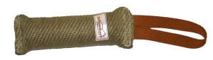 Jute Puppy tug 25cm with handle